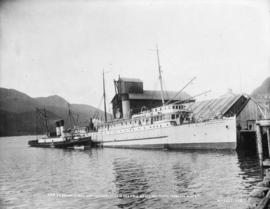 "C.P.R. S.S. ""Princess May"" after wreck on Sentinel Island [U.S.A.] towed to Juneau Sept..."