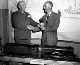 Presentation of the B.T. Chappell Cup for best model railway engine in P.N.E. Hobby Show