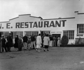 Exterior view of P.N.E. restaurant and cafeteria
