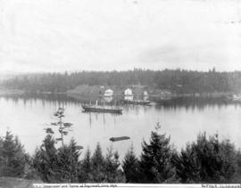 "[H.M.S. ""Shearwater"" and ""Egeria"" off Esquimalt]"