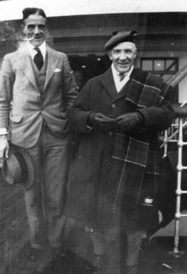 "[John Hosie and Sir Harry Lauder on board the ""Princess Kathleen""]"