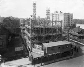 [Credit Foncier Building under construction]