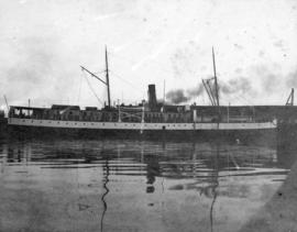 "[Union Steamship Company's S.S. ""Cutch"" at dock]"