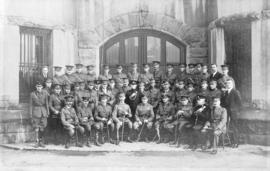 [Officers of the 158th Overseas Battalion, The Duke of Connaught's Own Rifles and other offi...