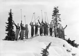 [Group of skiers] on Mt. Seymour, B.C.