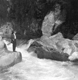 [Man standing in Capilano Canyon]