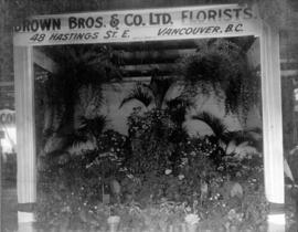 [Brown Bros. Florists' display booth at P.N.E.]