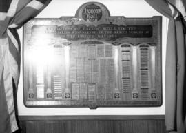 World War II Honour Roll for employees of Pacific Mills