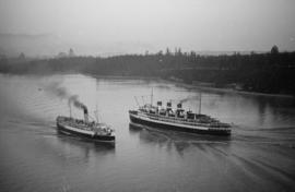"[C.P.R. ship passing S.S. ""Prince Robert"" in the narrows]"