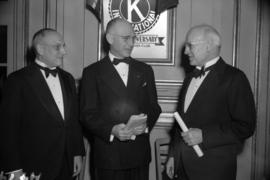 Leslie G. Henderson, Donald B. Rice, and the Hon. H.H. Stevens at the convention of the Kiwanis I...