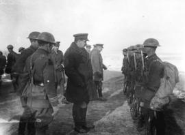 [Inspection of Canadian battalions at the Western front]