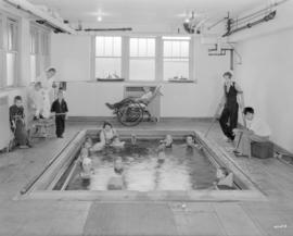 [Hydrotherapy pool room in the Crippled Children's Hospital - 250 West 59 Avenue]