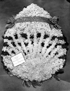 [Province of B.C. wreath for the funeral of King George VI]