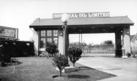 [Imperial Oil Limited's Gasoline Service Station on the southeast corner of Broadway and Granvill...