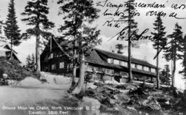 """Grouse Mountain Chalet, North Vancouver, B.C. Elevation 3800 Feet"""