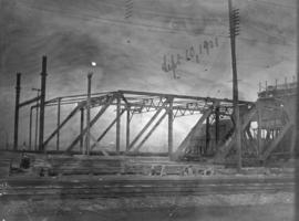 Main Street bridge [formerly Westminster Avenue trestle] construction