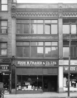 [Hugh M. Fraser and Co. Ltd. Insurance and Financial Service office at 132 West Hastings Street]