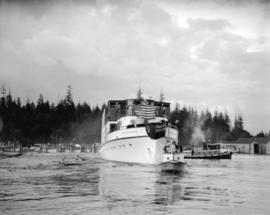 "Boeing Aircraft Co. of Canada, launching of W.E. Boeing's yacht ""Taconite"""