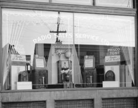 Radio Sales Service Limited window display [at 780 Beatty Street]