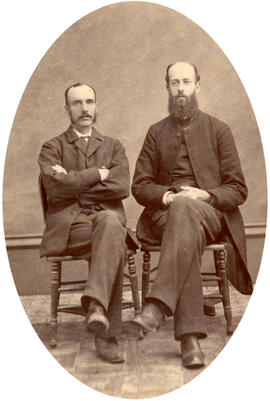 [Dr. R.I. Bentley and an unidentified man]