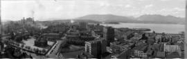 [Northern view of downtown Vancouver from the World Building at 500 Beatty Street]