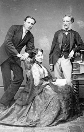 [Studio portrait of] Mr. Consul Wilthew and Mrs. Wilthew [and an unidentifed man]