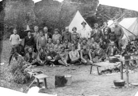 [Vancouver Natural History Society group in Botanie Valley camp]