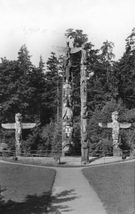 The totem poles at Lumberman's Arch