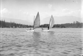 [Two sailboats in Coal Harbour]