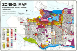Zoning map : City of Vancouver, British Columbia [front side]