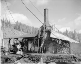 Pacific Mills' [donkey engine on the] Queen Charlotte Islands