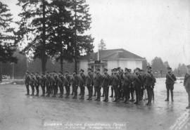 Canadian Siberian Expeditionary Forces in training New Westminster, B.C.