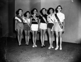 Miss Vancouver contestants lined up on stage