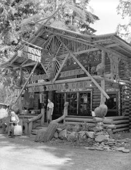 [Silver Creek log cabin camp on the Cariboo Highway]