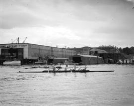 Vancouver Rowing Club Regatta [Coal Harbour - showing Boeing Aircraft Co. building]