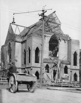 [Partially demolished Wesley Methodist Church, 545 Homer Street]