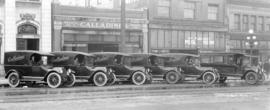 Calladines Grocery Trucks - Studebakers [in front of Branch No. 3 Calladines Grocery]