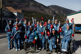 Torchbearers posing in Lytton, BC [1 of 2]