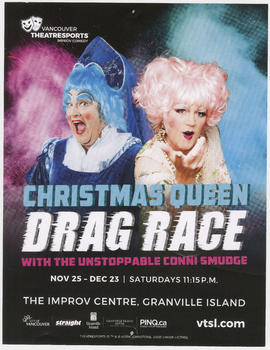 Christmas queen drag race with the unstoppable Conni Smudge : Vancouver Theatresports Improv Come...