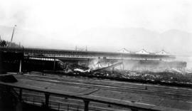 Canadian Pacific Railway Pier D the day after the fire