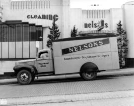 Nelson's Launderers & Dry Cleaners delivery truck