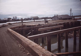 Dock construction at the Fraser River