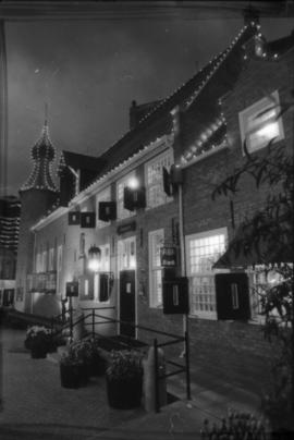 Exterior of Castle Vancouver at night
