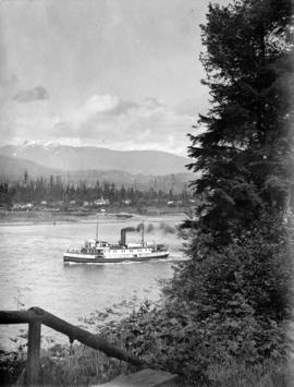 "[S.S. ""Cheakamus"" leaving the harbour]"
