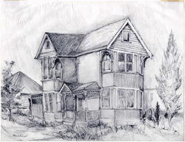 [Sketch of a Victorian house]