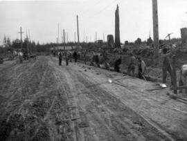 [Sewer construction on Balsam Street between Wilson Road (41st Avenue) and 43rd Avenue]