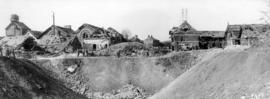 Not a chalk pit but a mine crater [in a European town during World War I]