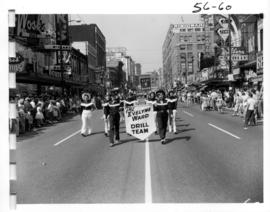 Evelyne Ward Drill Team in 1956 P.N.E. Opening Day Parade