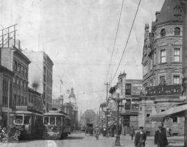 [Granville Street looking north from Dunsmuir Street]