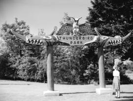 Thunderbird Park [entrance and sign]